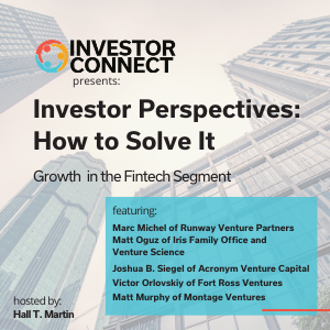 Investor Perspectives – How to Solve the Fintech Problem: Growth in the Fintech Segment