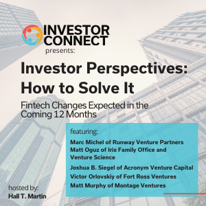 Investor Perspectives – How to Solve the Fintech Problem: Changes Expected in the Coming 12 Months